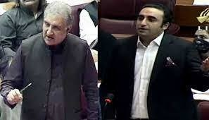 Both the foreign minister and PPP chairperson leveled serious accusations against the other. Image TV grab