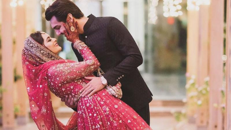 Photos of Minal Khan's nikah to Ahsan Mohsin enthrall social media
