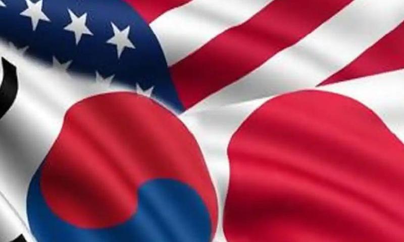 شمالی کوریا کے کروز میزائل تجربے، جاپان، امریکا اور جنوبی کوریا کا اجلاس