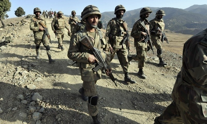 During the operation, the security forces also recovered explosives and arms. File photo