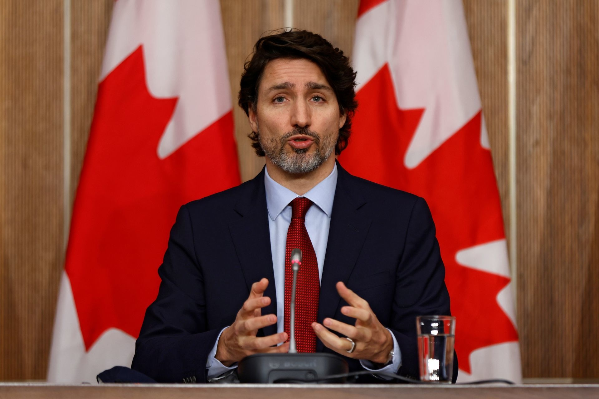 Justin Trudeau, 49, won a third term late on Monday. Reuteres