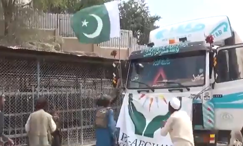 A video of men removing the flag from the truck went viral on Sunday. Twitter