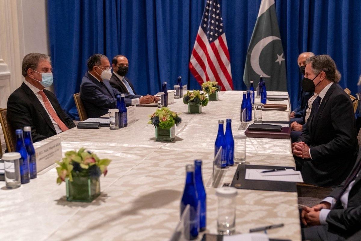 FM Qureshi and Sec. Blinken's meeting focuses on Afghanistan