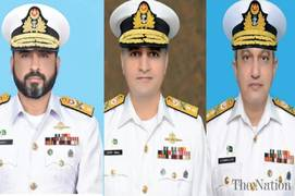 Three Pak Navy Commodores promoted to rank of Rear Admiral