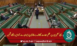 نہتے کشمیریوں پر ظلم، بھارت کیخلاف برطانوی پارلیمان سے آوازیں اٹھنے لگیں