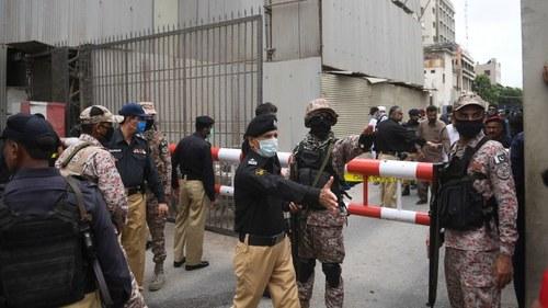 پاکستان اسٹاک ایکسچینج پردہشتگردوں کا حملہ، 6افراد شہید،تمام دہشتگرد ہلاک