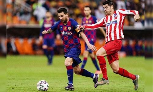 بارسلونا کی ٹائٹل جیتنے کی امیدوں کو بڑا دھچکا