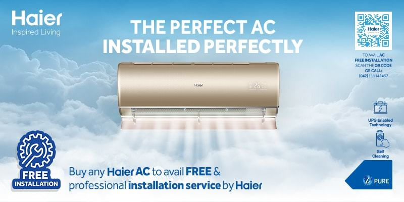 Haier's Free AC Installation Services