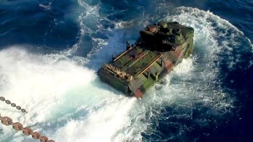 نیوی کا بحری ٹینک فوجیوں سمیت ڈوب گیا
