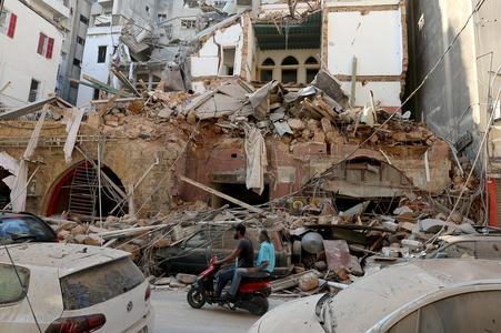 UK says too early to speculate on cause of massive blast in Beirut