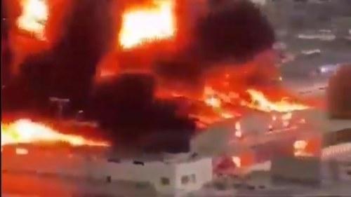 عراق کے شہر نجف میں بھی خوفناک آگ بھڑک اٹھی
