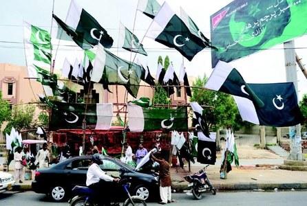 کراچی میں جشن آزادی کی تیاریاں عروج پر