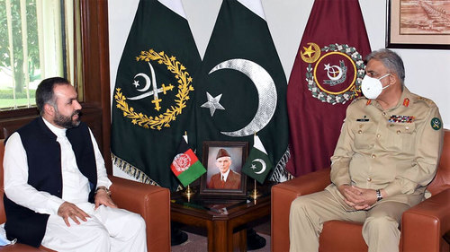 Afghan ambassador calls on COAS Bajwa