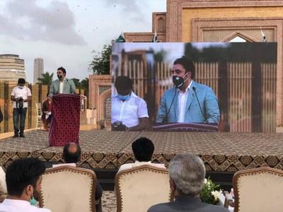 کراچی میں پیپلز اسکوائر کا افتتاح