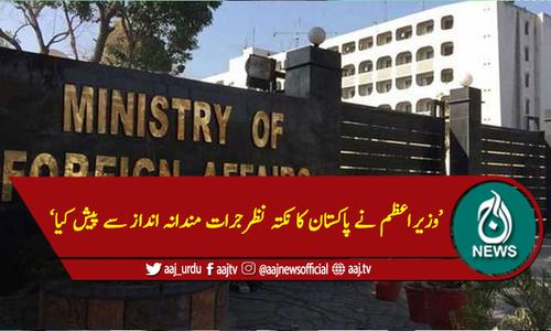 وزیراعظم نے پاکستان کا نکتہ نظر جرات مندانہ اندازاسے پیش کیا