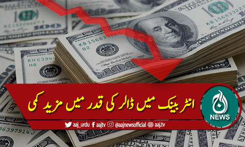 انٹربینک میں امریکی ڈالر 164 روپے سے بھی نیچے آگیا