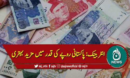 انٹربینک میں پاکستانی روپیہ مزید تگڑا، ڈالر کی قدر گرگئی
