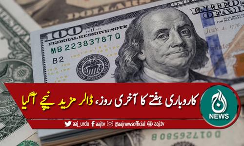 پاکستانی روپے کے مدمقابل ڈالر کی قدر میں مزید کمی