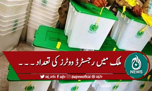 ملک میں رجسٹرڈ ووٹوں کی تعداد 11 گیارہ کروڑ سے تجاوز