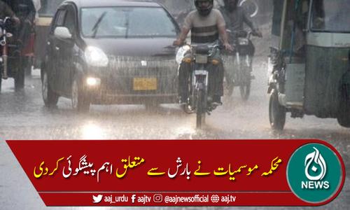 محکمہ موسمیات نے پشاور میں بارش کی پیشگوئی کردی