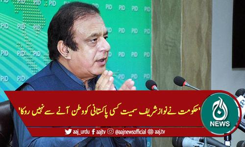 'حکومت نےنوازشریف سمیت کسی پاکستانی کووطن آنےسےنہیں روکا'