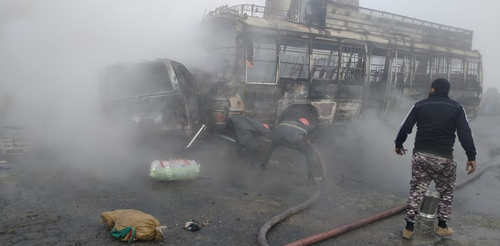 13 dead, over 15 wounded in bus-van collision in Sheikhupura