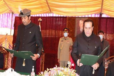 PTI's Khalid Khurshid takes oath as Gilgit-Baltistan CM