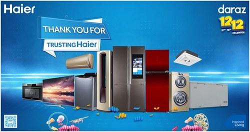 Haier's 12.12 Sale Comes to a Fantastic End!