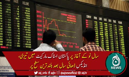 پاکستان اسٹاک ایکسچینج میں تیزی: ہنڈریڈانڈیکس میں350پوائنٹس اضافہ