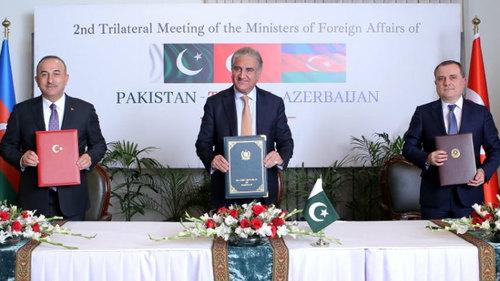 Pakistan, Turkey, Azerbaijan determine to continue cooperation for regional peace