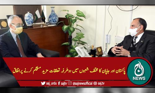 پاکستان اور جاپان کا مختلف شعبوں میں دوطرفہ تعلقات مزید مستحکم کرنے پراتفاق
