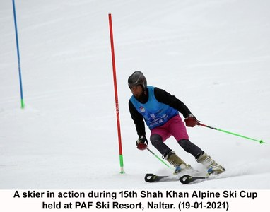 PAF skiers steal the show at 15th Shah Khan Alpine Ski Cup 2021