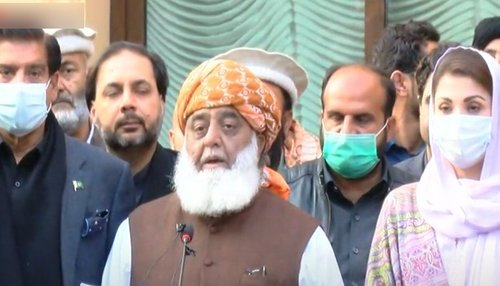 Fazl announces to continue protest movement till govt's resignation