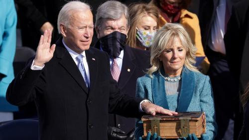 'This is democracy's day,' says Biden after his swearing-in as 46th US president