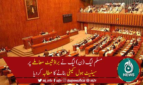 مسلم لیگ (ن) لیگ کا براڈ شیٹ معاملے پر سینیٹ ہول کمیٹی بنانے کا مطالبہ