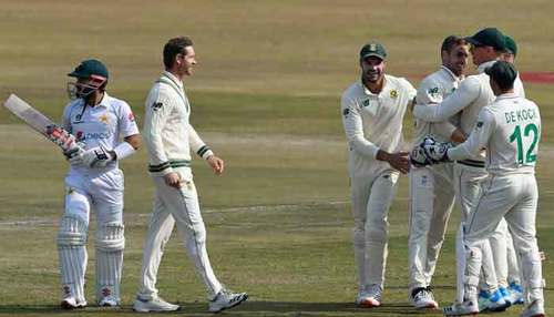 Pakistan in command despite Nortje's five-fer in second Test