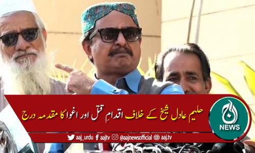 سندھ اسمبلی میں حلیم عادل شیخ کے خلاف اقدام قتل اور اغوا کا مقدمہ درج