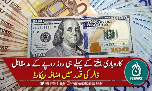 کاروباری ہفتے کے پہلے روز ڈالر کی قدر میں اضافہ