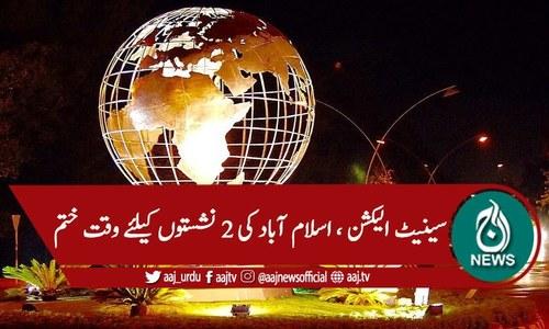 سینیٹ الیکشن 2021، اسلام آباد کی 2نشستوں کیلئے وقت ختم