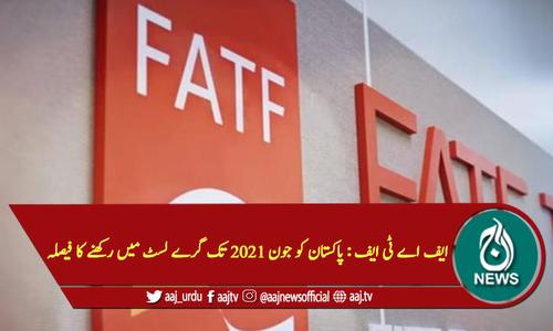ایف اے ٹی ایف : پاکستان کو جون 2021 تک گرے لسٹ میں رکھنے کا فیصلہ