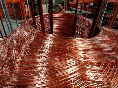 Copper hits 9-1/2-year high on tight supply, demand hopes