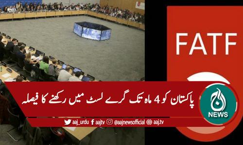 ایف اے ٹی ایف اجلاس، پاکستان کو آئندہ 4 ماہ تک گرے لسٹ میں رکھنے کا فیصلہ