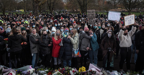 Londoners continue to protest against police after murder of Sarah Everard