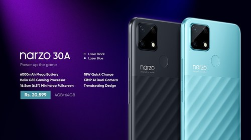 Realme launches the gaming beast Narzo 30A with MediaTek Helio G85 processor