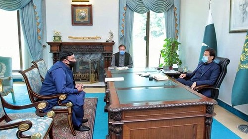 Interior Minister calls on PM in Islamabad