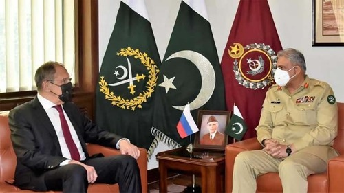 Russian FM lauds Pakistan's anti-terror efforts in meeting with COAS