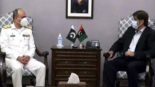 Commander Pakistan Navy Karachi calls on Sindh CM