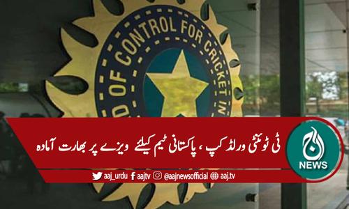 پاکستانی ٹیم کو ویزے جاری کرنیکی آمادگی