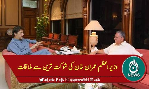 وزیراعظم عمران خان کی شوکت ترین سے ملاقات