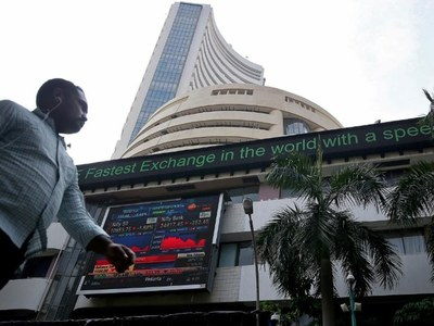 Indian shares sink on record surge in daily COVID-19 cases